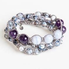Strengthen your soul by wearing blue agate and amethyst together for a potent spiritual combo.
