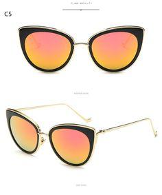 e65380219e23 2017 High Quality Women Fashion Sexy Cat Eye Sunglasses Women Brand Designer  Sun Glasses Gafas Oculos Feminino UV400