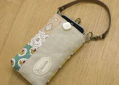 How to make handmade cellphone case of linen - A wonderfully natural look and feel.