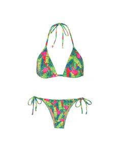 Biquini farm verão Bikini summer  Moda praia  Estampado colorido