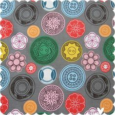 Vintage Buttons fabric by Marceline Smith