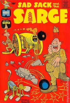 Sad Sack Cartoon | Sad Sack and the Sarge (1957) comic books