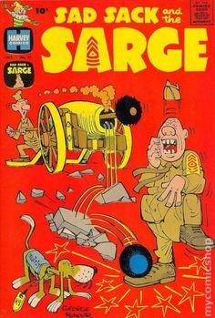 Sad Sack Cartoon | Sad Sack and the Sarge (1957) comic books