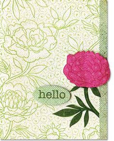 hero arts large blossom | Hero Arts Cling Stamp - Large Flower Background