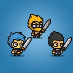Warrior Tiny Style Character