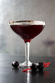 Port, bourbon, and maple syrup come together in a cocktail with intense color, depth of flavor, and a bit of a bite.
