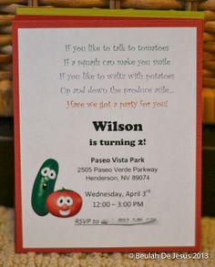 "Photo 6 of 12: VeggieTales, Veggie Tales, red, green / Birthday ""Wilson's VeggieTales Party"" | Catch My Party"