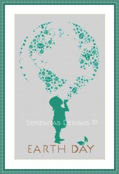 10 Cross Stitch Patterns to Celebrate Earth Day