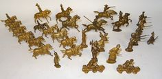 Lot 389 - Gilt Hollowcast Toy Soldiers Britains and others