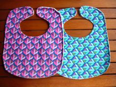 Twins baby set/ Pink and purple bibs for girl/ by LittleandCosy