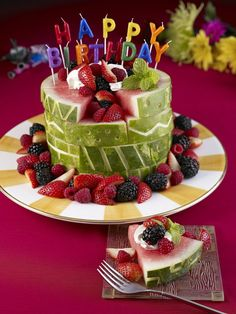 Cebrate a Summer birthday with a refreshingly unexpected treat — a watermelon cake!