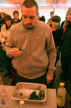 Icefest pepper eating contest. Ryan Blackwell/photo