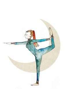 Standing Bow Pose  #yoga #illustration