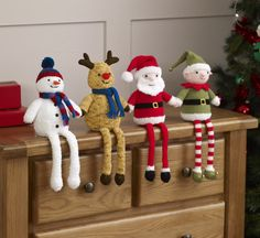 King Cole Christmas Knits Book 4 Knitting Patterns Santa Snowman Pudding Baubles Always wanted to learn to knit, yet undecided the place to begin? This kind of Utter Beginner Knitting Series is exactly. Crochet Christmas Ornaments, Christmas Knitting Patterns, Holiday Crochet, Noel Christmas, Christmas Toys, Christmas Decorations, Tree Decorations, Knitting Books, Easy Knitting