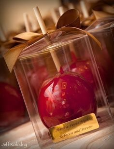 I want candy apples at my wedding! Maybe as a favor or escort card??
