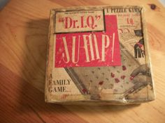 """Vintage puzzle game """"Dr. I.Q."""" Jump! test your IQ A family game W/instructions #Unbranded"""