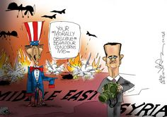 The US responds to claims that Syria used chemical weapons, Jerm responds to the US. Chemical Weapon, Morals, Weapons, Syria, Cartoons, Politics, News, Weapons Guns, Guns
