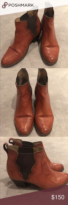 Frye Jackie Gore Frye Jackie Gore in Cognac Frye Shoes Ankle Boots & Booties