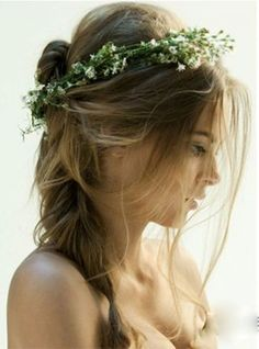 bohemian braided wedding hairstyles with messy style