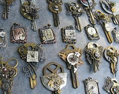 """altered key by """"T""""eresa, via Flickr. I love these so much I can barely stand it."""