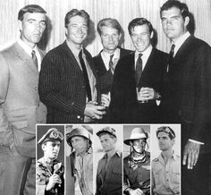 """The cast of """"The Rat Patrol"""" from l-r: Hans Gudegast, Justin Tarr, Larry Casey, Chris George and Gary Raymond."""