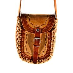 Hand Tooled Leather Purse Bag $35