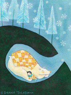 Diana Toledano: Illustration Juxebox: Silent Night