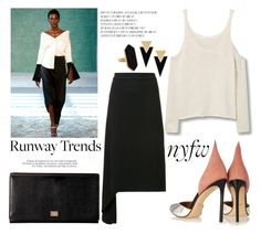 """""""Hot NYFW Runway Trend"""" by louise-frierson ❤ liked on Polyvore featuring Hellessy, Yves Saint Laurent, Jaeger, MANGO, Madara, Dolce&Gabbana and Francesco Russo"""