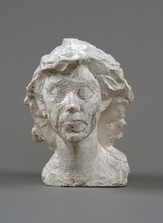 Alberto Giacometti , Head of Isabel, circa 1938-1939 Plaster enhanced with pencil
