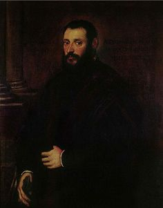 Portrait of Nicolaus Padavinus - Tintoretto.  1589.  Oil on canvas.  116 x 89 cm.  Eva Klabin Foundation, Rio de Janeiro, Brazil.