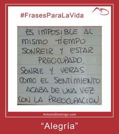 """#FrasesParaLaVida nº 16 """"Alegria"""""""