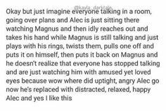 Aww love Malec