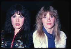 Look how young Ann and Nancy Wilson from Heart look! Holly shit! This photo was taken in 1978 at some press thing at the Century Plaza Hotel. We all looked good in 1977!  Photo by Brad Elterman