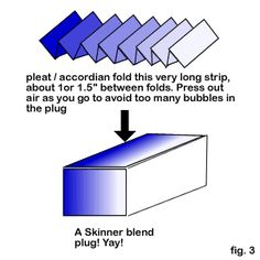 """Skinner blend """"plugs"""" - requisite basic technique. Round or square. #polymer #clay #tutorial"""