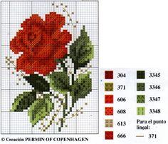 Hilos de Aralena: Rosas en punto Cruz