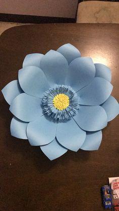 Flor de papel cartulina