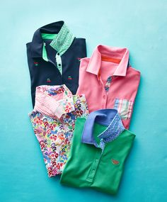 Classic polo shirts get a preppy update with embroidery, floral patterns and plaid accents. Polo Shirt Women, Polo Shirts, T Shirts For Women, Clothes For Women, Floral Patterns, Modern Classic, Talbots, Preppy, Plaid