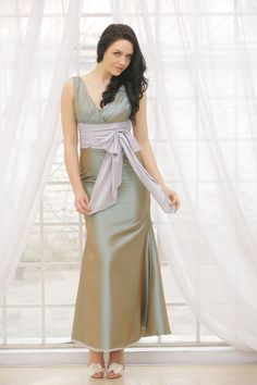 Dresswe.com SUPPLIES Excellent Sashes/Ribbons Mermaid/Trumpet V-Neck Floor-length Bridesmaid Dress 2013 Bridesmaid Dresses