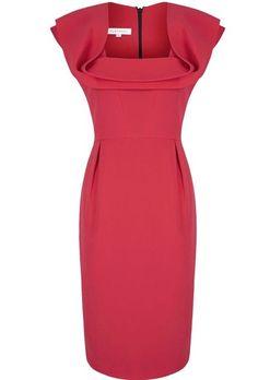 Love the neckline-Fluid Silk Crepe Shift Dress inspired by a dress bought in Portobello, London. Evening Dresses For Weddings, Event Dresses, Wedding Dresses, Designer Work Dresses, Dresses For Work, Divas, Beautiful Cocktail Dresses, Buy Dress, Dress Red