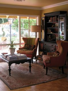 Love this room.  Boho Farm and Home: Voila! The living room is now the drawing room