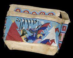 Nellie Two Bear Gates (Yankton Dakota), Beaded tipi bag, c. 1900; National Museum of the American Indian