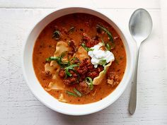 Recipe for Fitness: Lasagna Soup Recipe. A Food Network recipe gets a makeover! Clean, filling, AWESOME!!