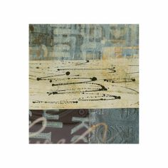 """Here are more of my experiments using DecoArt stencils with the Gelli Plate for creating an array of collage papers. Bon Voyage 2, Collage, 6x6 on 8x8"""" Backing ©Martha Marshall"""