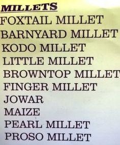 Kinds of Millets