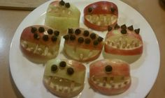 Monster jaws. A healthy Halloween treat!