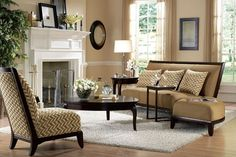 Brown living room ... color combination  like the color combo, not crazy about the furniture.