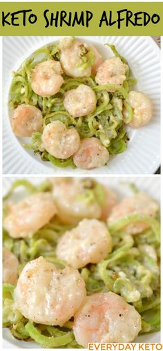 This Keto Shrimp Alfredo is a delicious low carb main dish. Serve over broccoli for an easy Keto dinner. This Keto Shrimp Alfredo is a delicious low carb main dish. Serve over broccoli for an easy Keto dinner. Keto Shrimp Recipes, Diet Recipes, Healthy Recipes, Cena Keto, Keto Diet Drinks, Diet Foods, Real Foods, Keto Snacks, Vegetarian Recipes