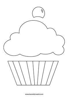Risultati immagini per sagome cupcake