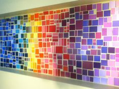Never buy paint again!! Cover your wall in a creative art master piece using paint swatches!!!
