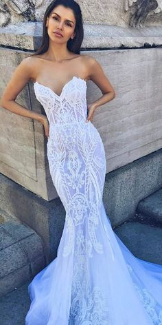 Top 30 Designer Wedding Dresses 2018 ❤️ See more: http://www.weddingforward.com/wedding-dresses-2018/ #weddings
